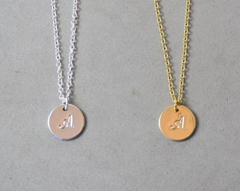 Engraved Initial A Necklace