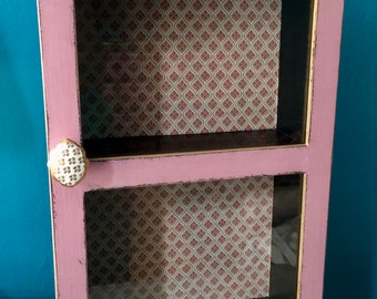 Small china cabinet in shabby chic