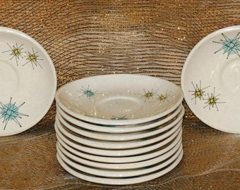 10  Franciscan Starburst Vintage Coffee Saucers sold Individually -- 1 Coffee Saucer with a small chip