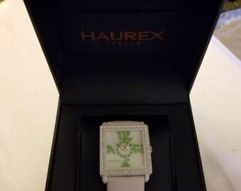Rare Haurex Italian Design Diverso Ref.WF369DWW Quartz Watch