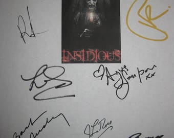 Insidious Signed Film Movie Screenplay Script X11 Autograph Patrick Wilson Rose Byrne James Wan Barbara Hershey Leigh Whannell Ben Woolf