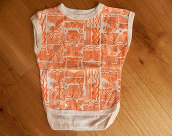 Soviet Vintage Kids Girls T- Shirt, Unused, Made in USSR in 1980 s for 128 - 134 cm tall child