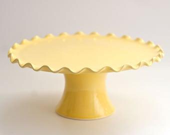 Ruffle Cake Stand - 10 inch - Yellow