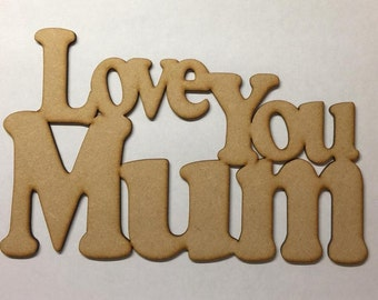 wooden plaque Mother's Day gift 3mm mdf thick laser cut craft blank