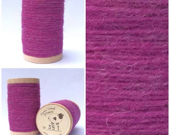 Rustic Moire Wool Thread #351 for Embroidery, Wool Applique and Punch Needle Embroidery