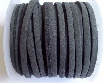 1 m gray 3mm suede cord