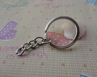 100pcs white k color 1 inch key chain with 1 inch split ring