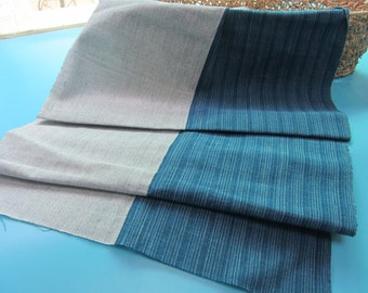 Hand Woven Cloth, 100% cotton fabric width 45cm,Hand Woven blue&white fabric,tea tablecoth,cotton table runner fabric,pillow case fabric