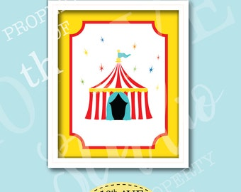 Carnival Circus Big Top Tent 8x10 Instant Download Print Your Own Wall Art