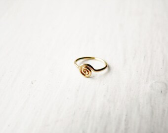 Spiral Nose Hoop Tragus Hoop 14k Gold Fill