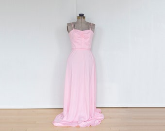 Vintage pretty in pink prom dress