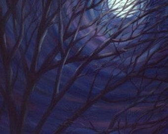 Full Moon Limted Edition signed giclee 11x14 Katie Lennon