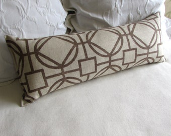 SURI CARAMEL 9x25 Bolster/lumbar pillow available in many of our fabrics
