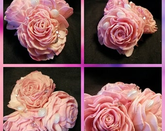 Headpiece - pink roses