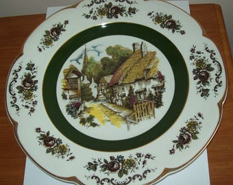 Decorative wall display Ascot Service Plate by Wood & Sons English rural cottage scene Collectible English country scene