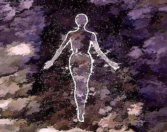 Star Cloud Figure - greeting card