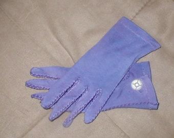 Vintage Lavender Cotton Dress Gloves