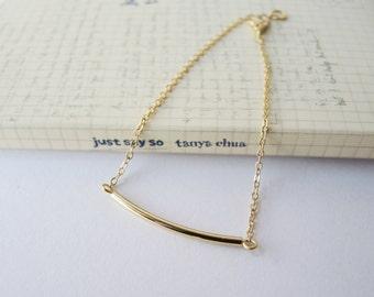 Gold bar bracelet - minimal jewelry