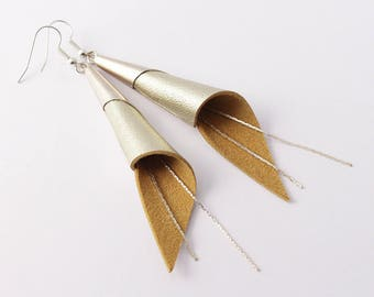 """arum"" champagne earrings, silver plated"