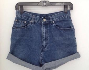 Vintage jean shorts for men or women denim shorts high waisted shorts high rise