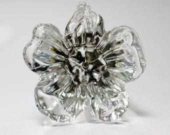 Drawer Knobs Pulls Handles  Irregular Petals Clear Dresser Knobs Glass Kitchen Cabinet Knobs  Furniture Bling Back Plate A07