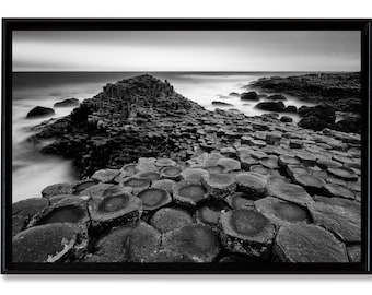 The giant's Causeway, fine art on Alu Dibond laminated and mounted in a crate American