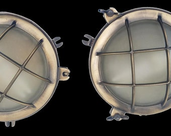 Urban Archaeology Marine Nautical Portal Wall Lights, Covers, Portholes, Sconces - A Pair