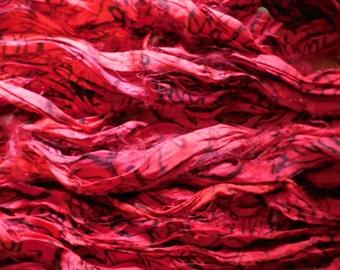 Printed Sari Ribbon,  10 Yards,  Fair Trade from India,  wrapping ribbon,