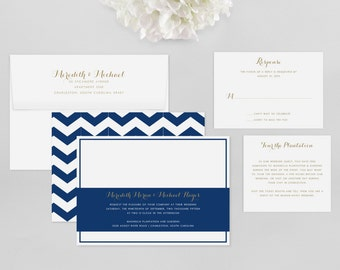 Wedding Invitation Modern Sample - Meredith - Wedding Invitation, Modern Wedding Invitation, Modern Wedding Invitations, Wedding Invitations