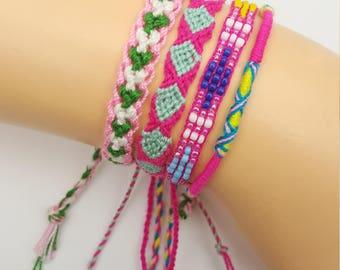 Summer Camp Style Friendship Bracelets Set Woven Set07.