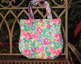 Bag, handbag, shoulder bag, shopper, tote bag, roses,