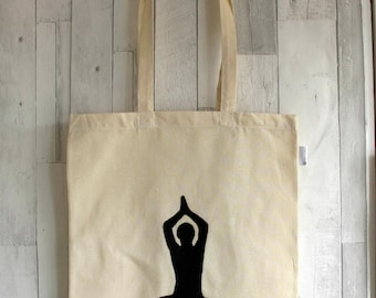 Yoga Pose, Cotton Shopper, Yoga, Tote Bag, Yoga Bag, Tote Bag, Canvas bag, Bag for yoga, Shopping Bag, Tote Bag, Beach bag. Yoga Retreat