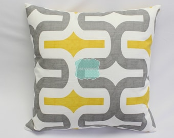 Pillow Cover - Premier Prints - EMBRACE - Storm Corn Yellow Grey - Home Decor Sofa Throw Pillow-Cover with Zipper Enclosure - All Sizes
