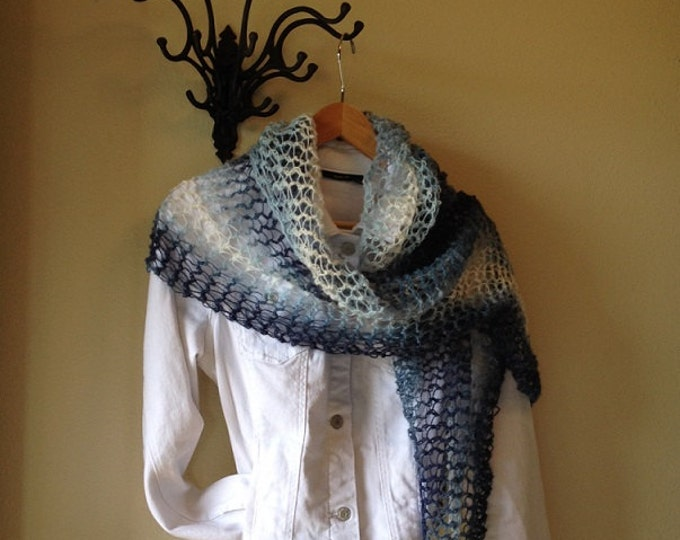 Featured listing image: Country Road Shawl -- a loom knit pattern