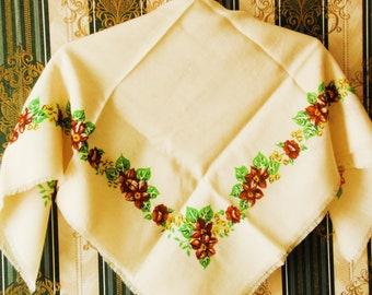 Châle en laine soviétique vintage étole femme Chale soviétique châle étole Chale rétro pour femmes soviétique vintage soviétique en laine étole rétro Chale