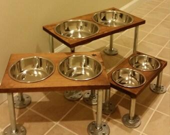 Raised dog bowls (small)