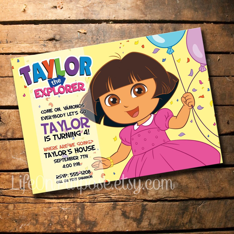 Dora the Explorer Birthday Party Invitation