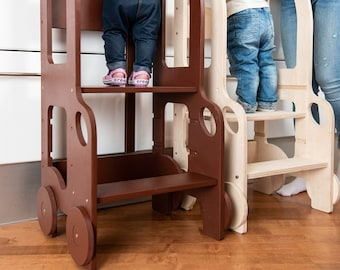 Changing heights stool/ kitchen helper for toddler