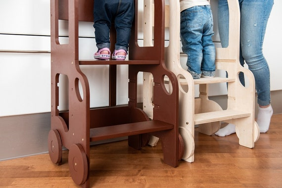 Changing heights stool/ kitchen step stool for toddler