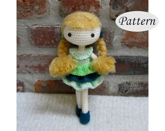 PIA - Amigurumi Pattern Crochet Doll Pattern - Tutorial - PDF - Plush Doll Girl