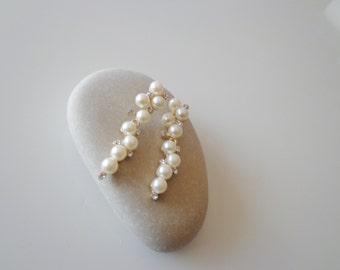 Wedding Pearl Earrings.