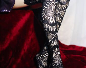 1/3 1/4 bjd socks , black lace stockings