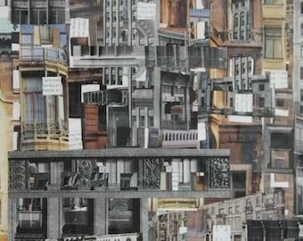 Original 12x18 Building Collage II
