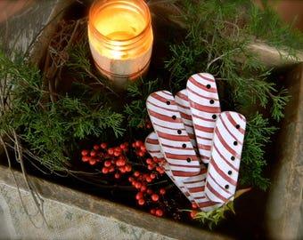 Peppermint Stick ~ Thread WInder/Floss Holder ~ from Notforgotten Farm™