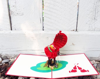 BBQ 3D Pop Up Card - openable lid, 3D card, 3D Pop Card, Retirement Card, Handmade card, Father's day Card, Summer Birthday Card, Red card