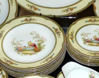 Vintage Noritake CHELSEA China Set 53 pieces Dinnerware Set Service for 8 Japan China Dinnerware Set for 8 RARE