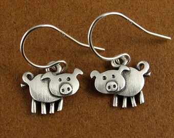 Tiny pig earrings