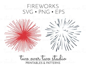 Fireworks SVG File, Fireworks Cutting File, Commercial Use, July 4th, Fourth of July, Fireworks Silhouette, Fireworks PNG or EPS