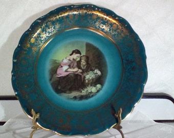 Blue print plate