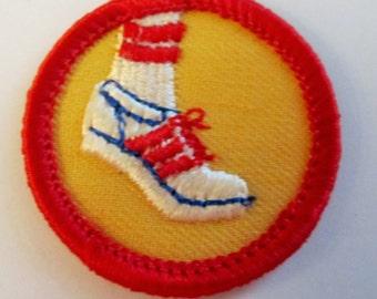 "Junior Girl Scout Badge ""Individual Sports"" circa 1980"